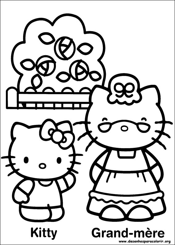 Desenhos Hello Kitty  para colorir #2 ~ Links da WEB