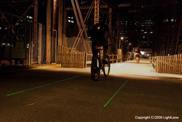 Laser cria a própria ciclofaixa
