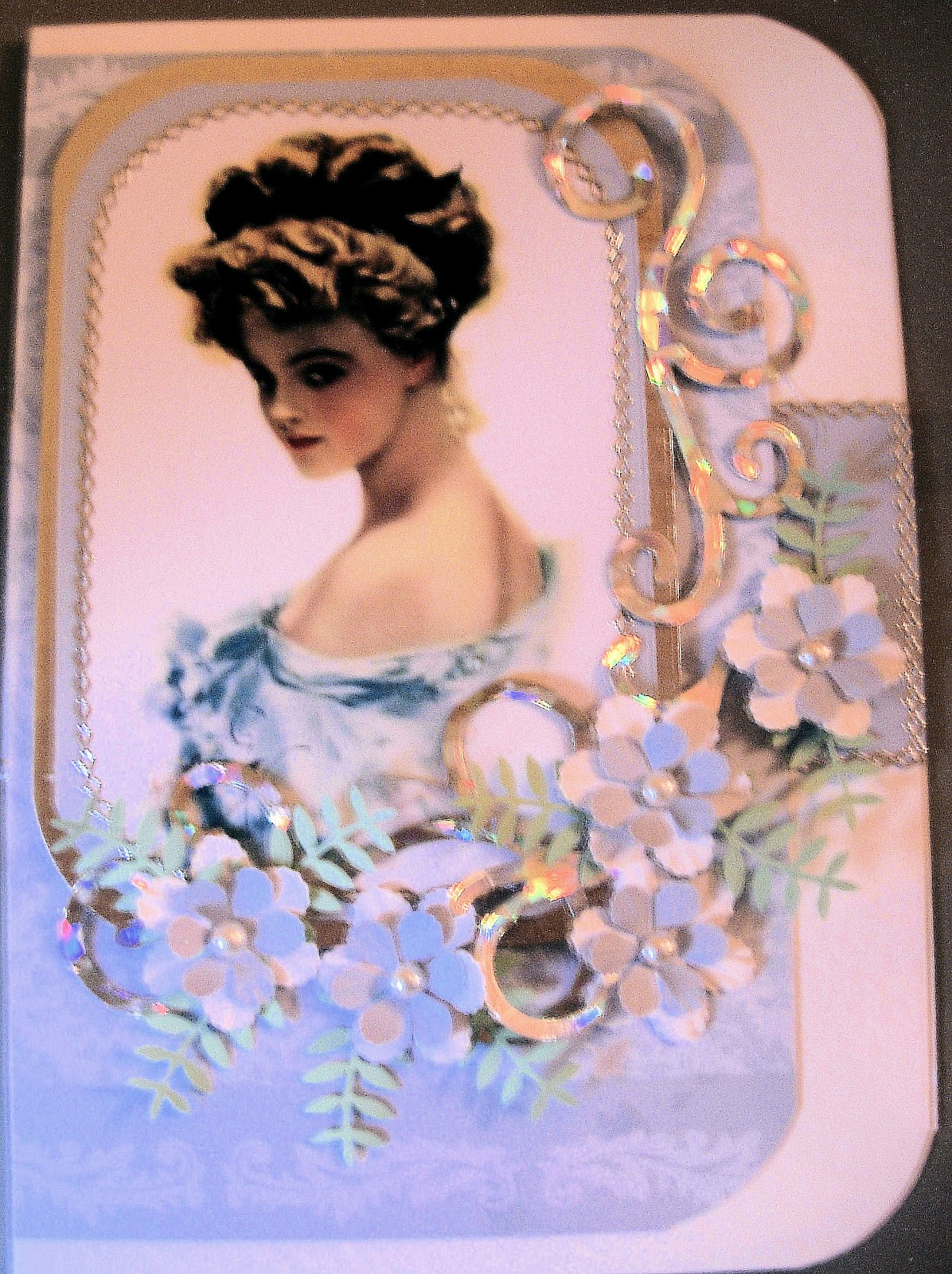 Card Art Kilcoole Hand Made Elegant Lady Cards