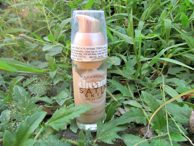 Maybelline New York Dream Satin Skin Foundation review, Maybelline Foundation for dry skin, Satin Finish Foundations, Dream Satin Skin, Indian Beauty Blogger, Review, Indian Makeup Blogger