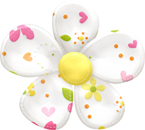 Flowers and buttons of the spring easter clip art oh my
