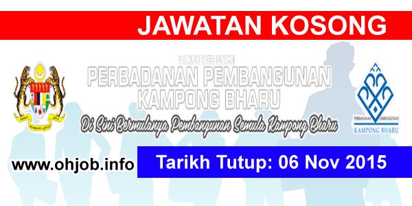 Jawatan Kerja Kosong Perbadanan Kampong Bharu (PKB) logo www.ohjob.info november 2015