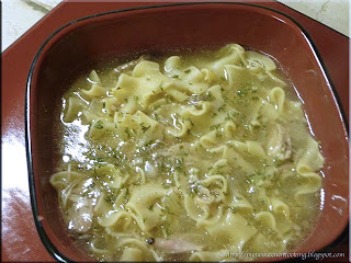 chicken noodle soup cooked in pressure cooker