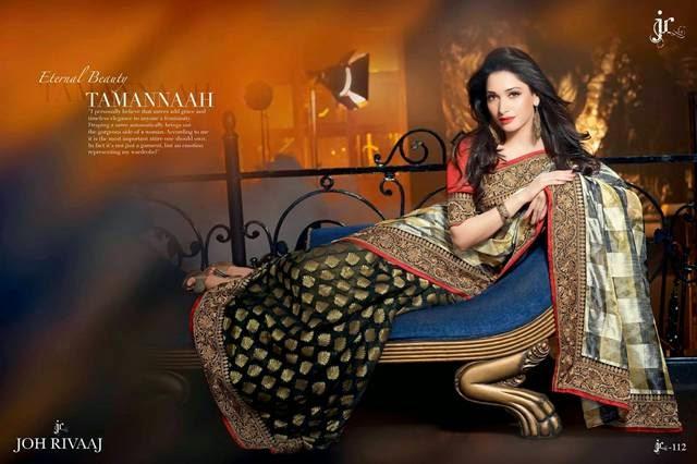Tamannah Bhatia Saree Photoshoot by John Rivaaj