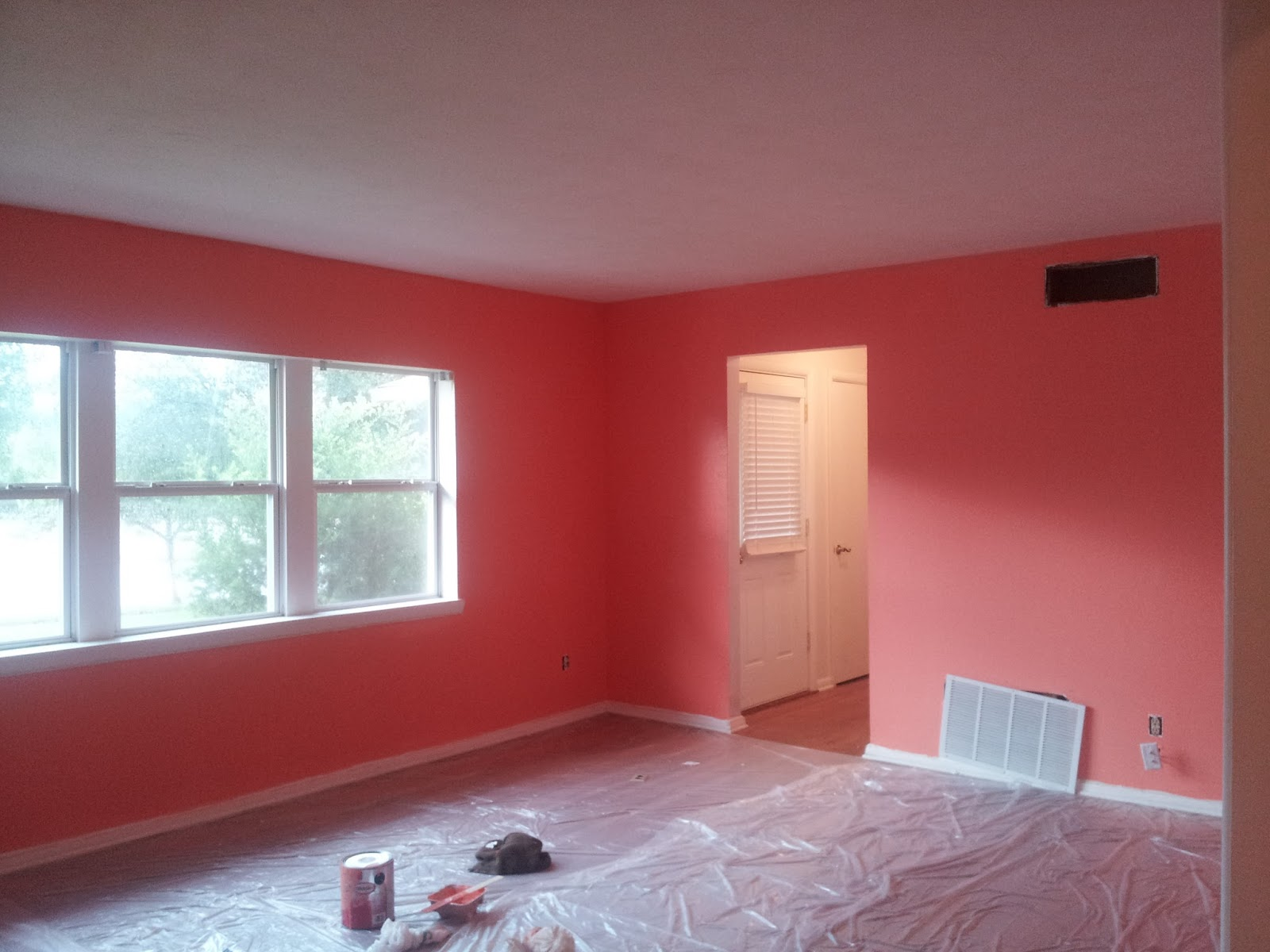 The glam nomad living room paint for Coral walls living room