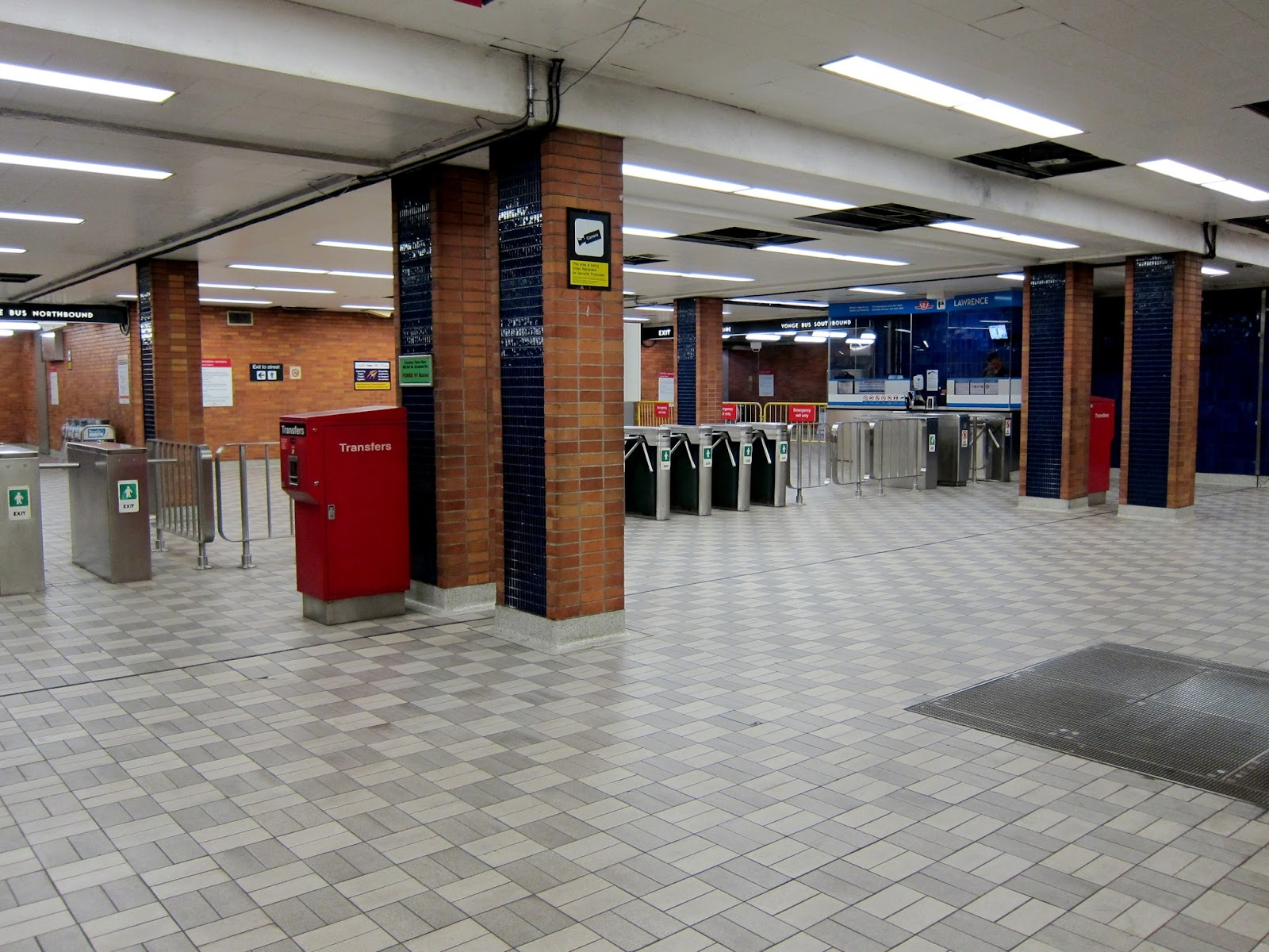 Lawrence station concourse