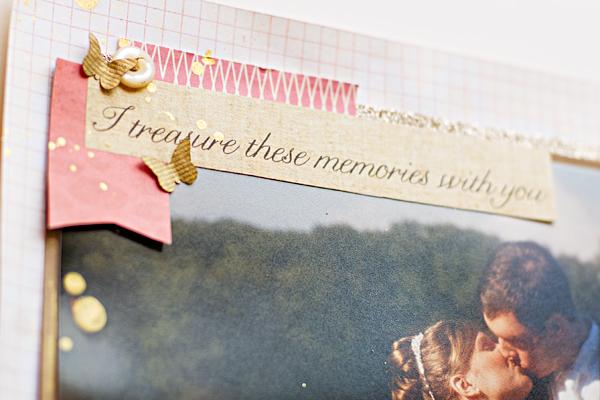 Wedding Album - Title Page - Heather Greenwood Designs