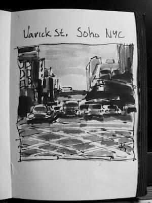 Varick St, SoHo NYC sketchbook