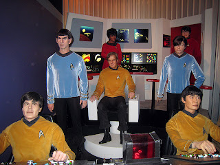 Original Star Trek Crew Made of Wax