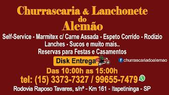 CHURRASCARIA E LANCHONETE DO ALEMÃO Disk Entrega