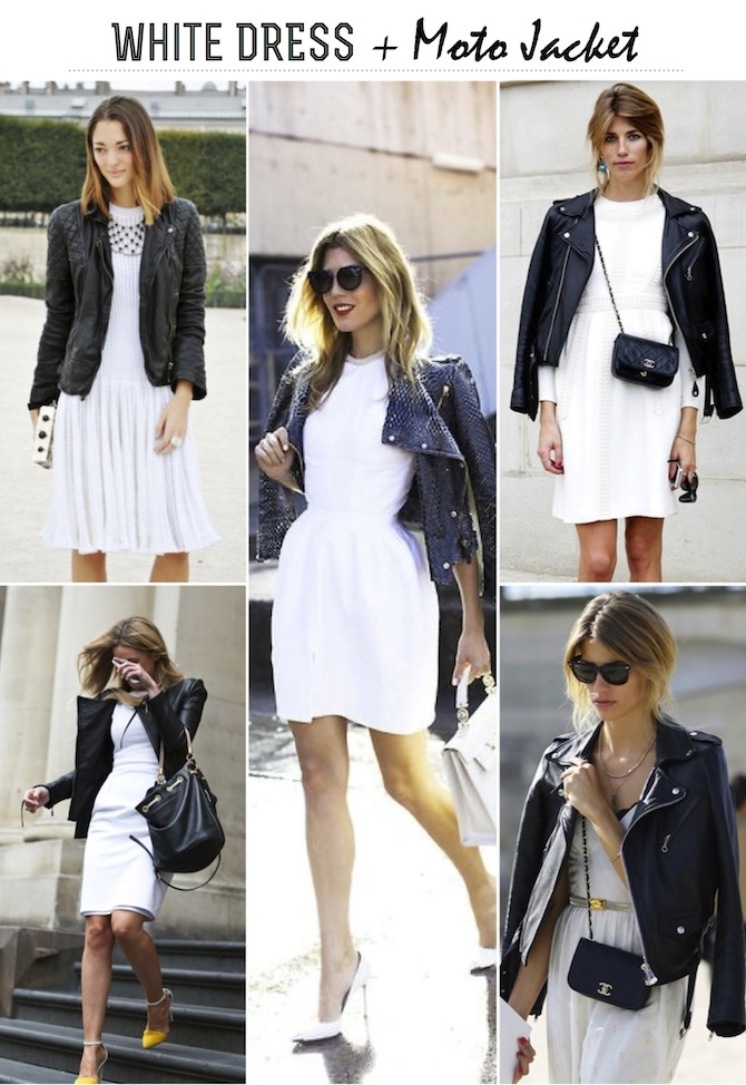 FRANKIE HEARTS FASHION: White Dress   Moto Jacket