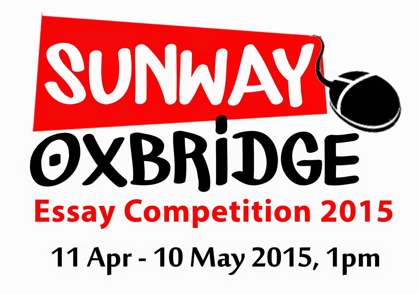Pertandingan Esei Sunway Oxbridge 2015 Kembali!