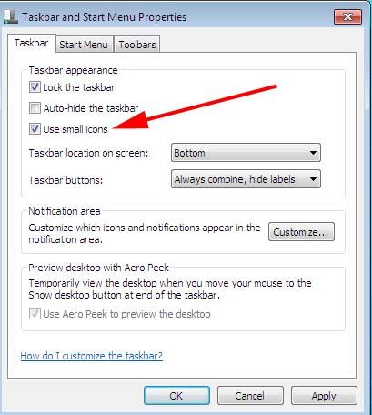 Cara Mengecilkan Icon Desktop Dan Icon Taskbar Pada Windows Tujuh Rajinter Repair Blog