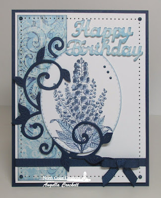 North Coast Creations Stamp Set: Floral Sentiments 5, North Coast Creations Custom Dies: Flourished Vine, Happy Birthday, Our Daily Bread Designs Beautiful Boho Paper Collection, Our Daily Bread Designs Custom Dies: Stitched Ovals