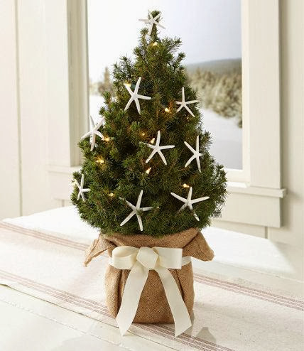 burlap mini Christmas tree