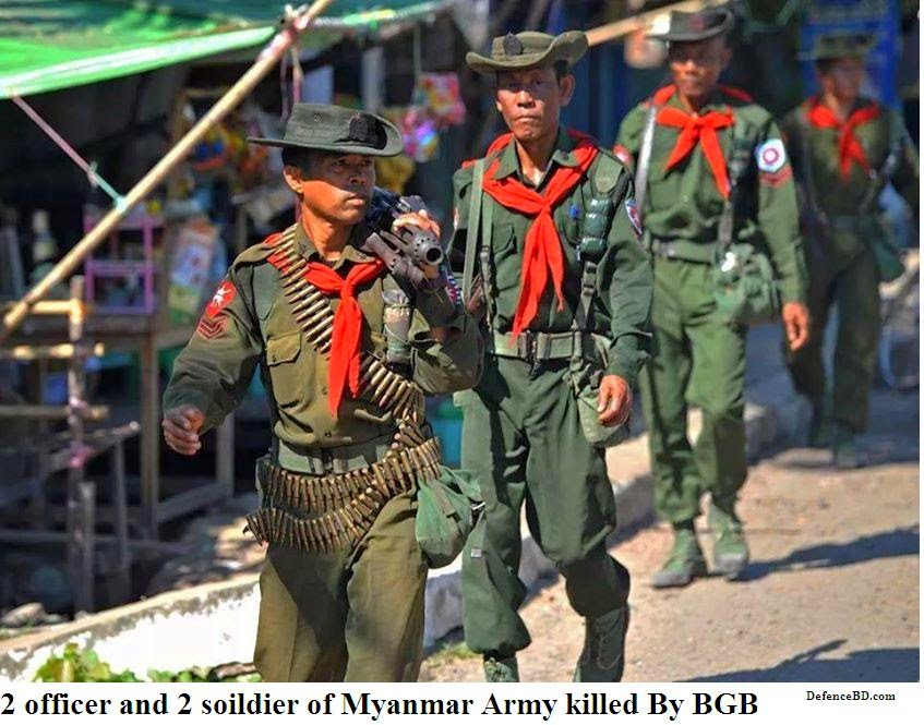 4 Myanmar Army member killed by BGB