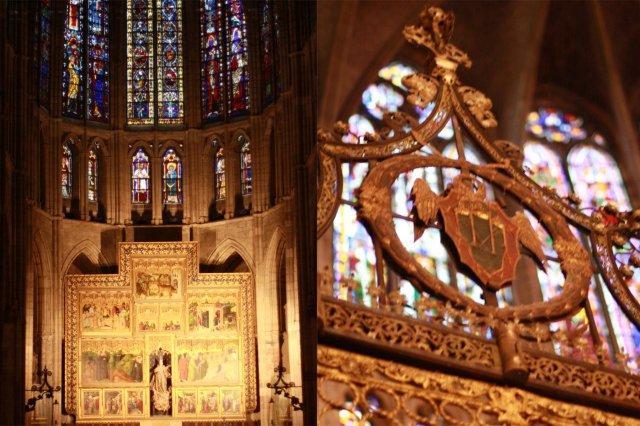 Interior de la Catedral de Santa Maria en Leon - Vidrieras
