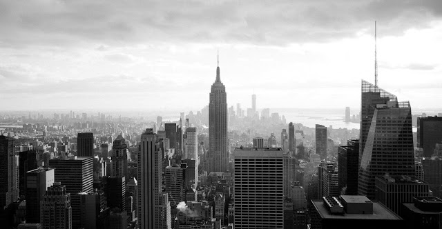 New York city black and white photography