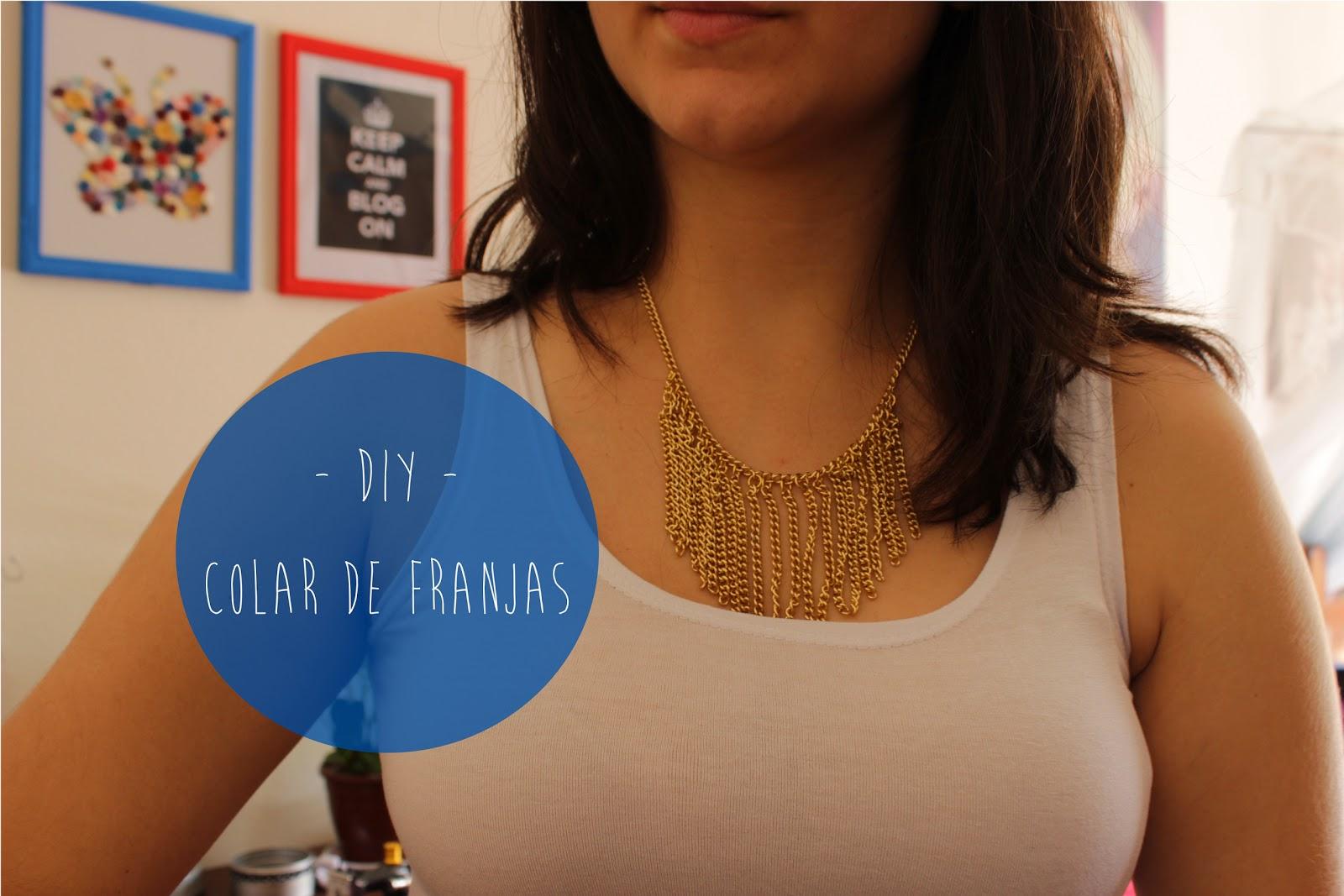 Como fazer colar de franjas