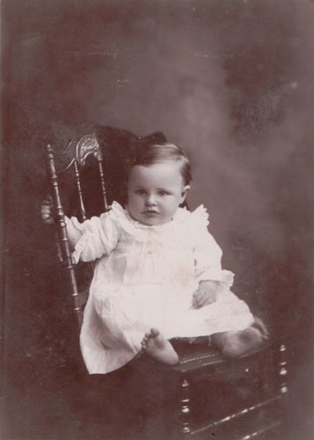 Unidentified baby in album of Mary Frances Jollett Davis