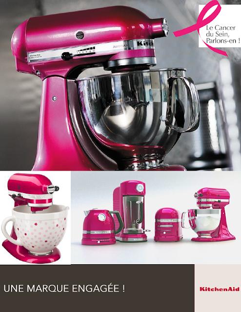 Octobre rose, Kitchenaid s'engage (une partie du prix versée à Cancer du sein, parlons-en !