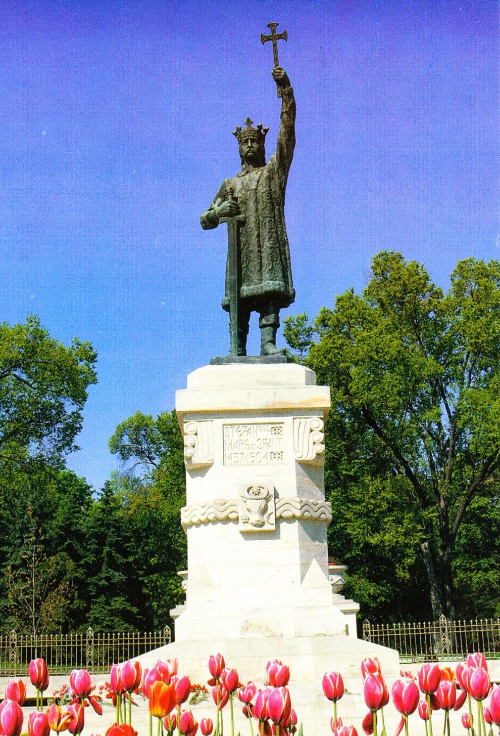 stephen, moldavia, postcard, monument, chișinău