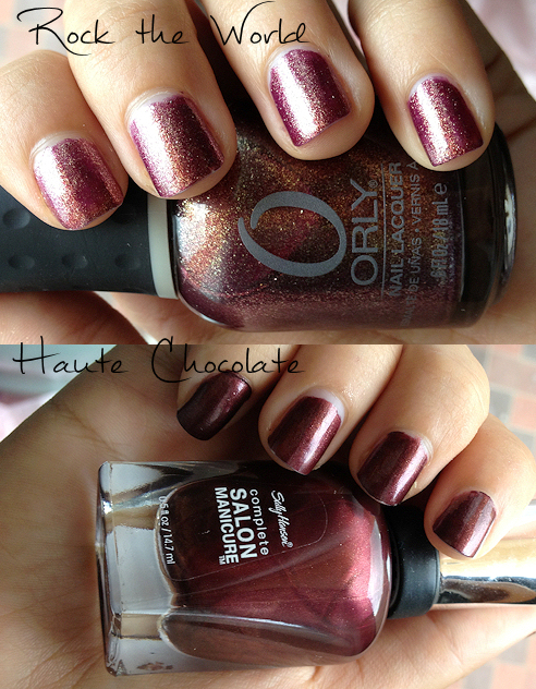 orly rock the world sally hansen haute chocolate