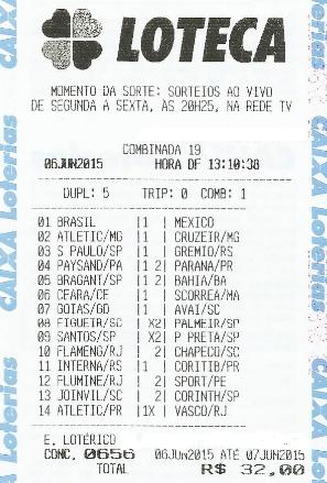 LOTECA 656 - DRAGOLINOS DO FLORENÇA