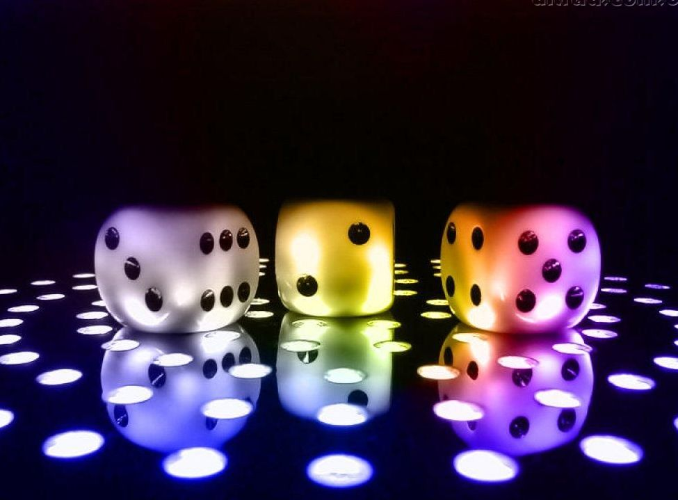 Phone Background Colorful Dice