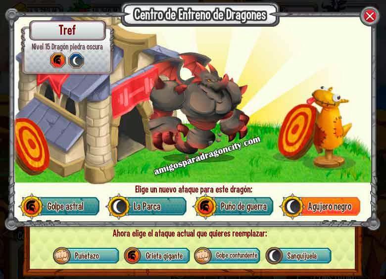 imagen de los ataques del dragon piedra oscura
