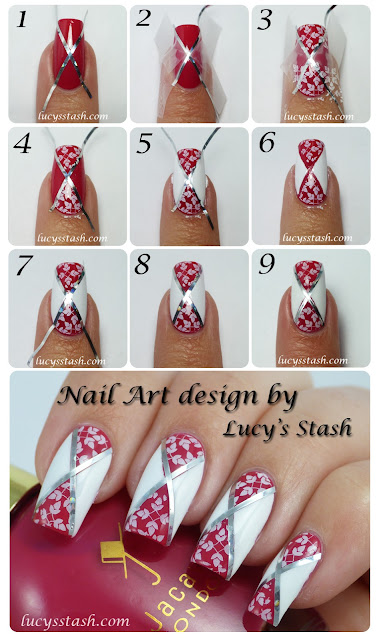 Lucy's Stash - Diagonal Nail Art feat. Jacava London Candy Floss and Mont Blanc with TUTORIAL