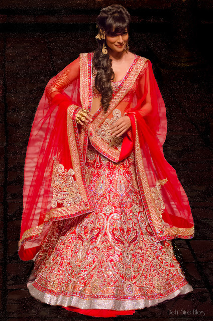 Suneet Varma India Bridal Fashion Week 2013 The Golden Bracelet Chitrangada Singh