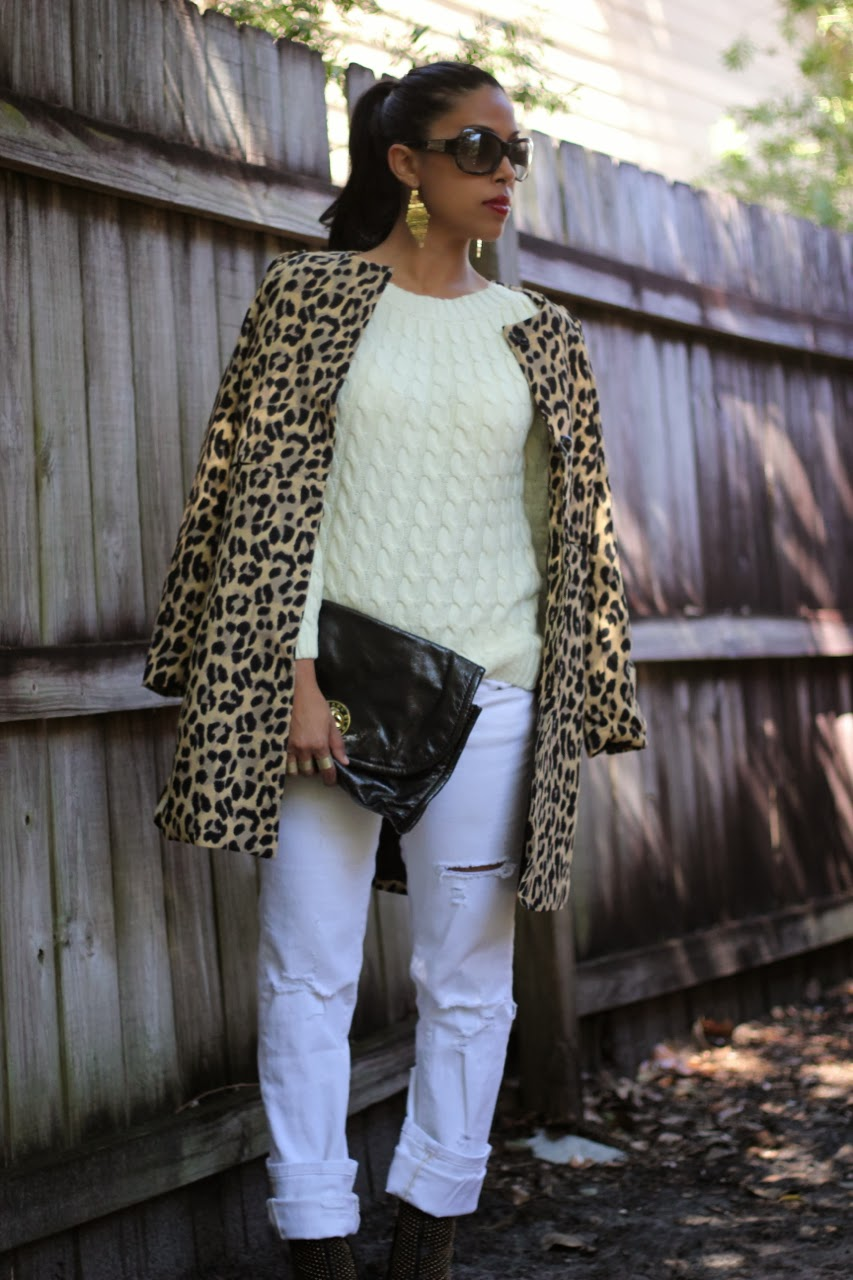 leopard coat bcbgmaxazria wane ankle boots gold studded