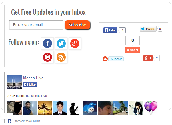 Add an Outstanding Subscription and Social Share Widget to Blogger