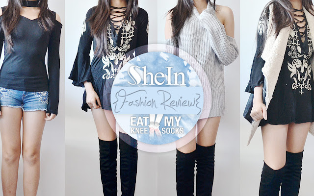 Today I've got a review of four new pieces of boho-chic clothing from SheIn, including a grey long sleeve cold shoulder turtleneck sweater, a black faux fur vest, a black choker-style cutout long sleeve shirt, and an embroidered black lace-up front dress. Plus, don't forget to enter my $120 SheIn gift card giveaway! Review ahead!