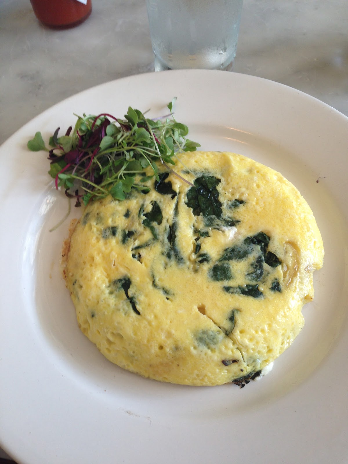 ... Favorite: Black Kale, Onion & Goat Cheese Frittata at Little Dom's
