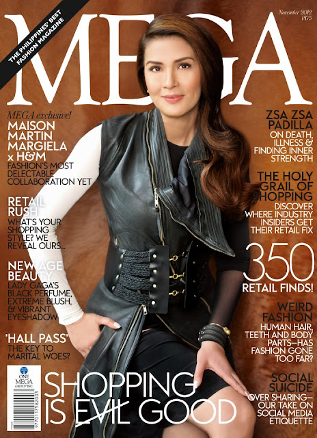 Zsa Zsa Padilla Covers Mega Magazine November 2012 Issue