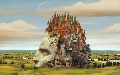 Ciudad dentro de mi cabeza - City inside my head - Ilustración - Diseño - Arte