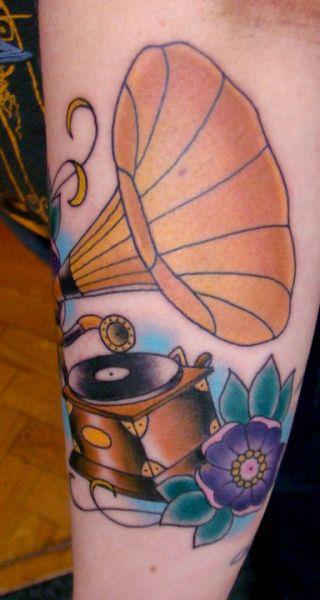Tatuagem Gramofone