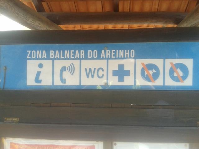 Informações da Zona Balnear Areinho