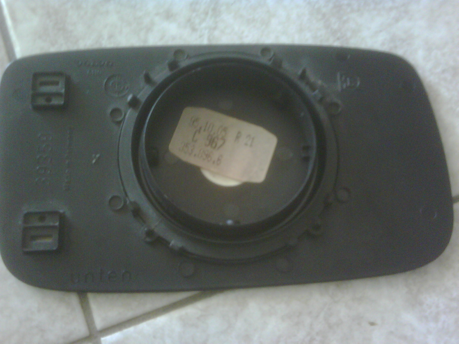 Volvo 240 Live 2011 Wiring Harness Guide Kjetorg Item12 740 940 Lhs Side Mirror Plate Without Glass Myr05