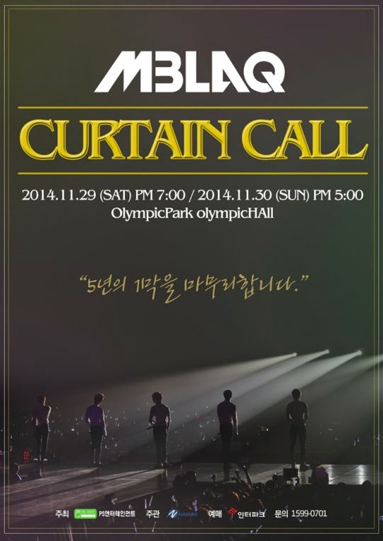 MBLAQ release main poster for 'Curtain Call' concert