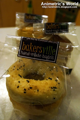 Hand-made bagels from Bakersville Boulangerie &amp; Patisserie