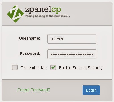 masuk/login zpanel