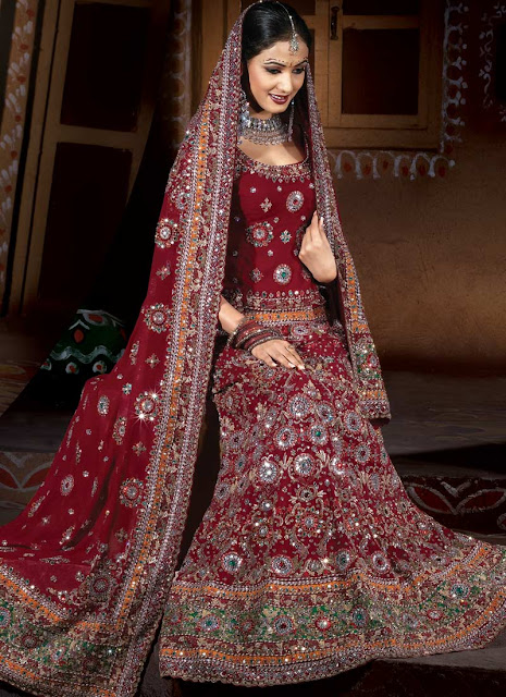 All about an indian bride indian bridal wear for Asian bridal wedding dresses