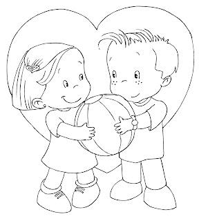 dibujos Del día del amor y la amistad – 14 de febrero para colorear