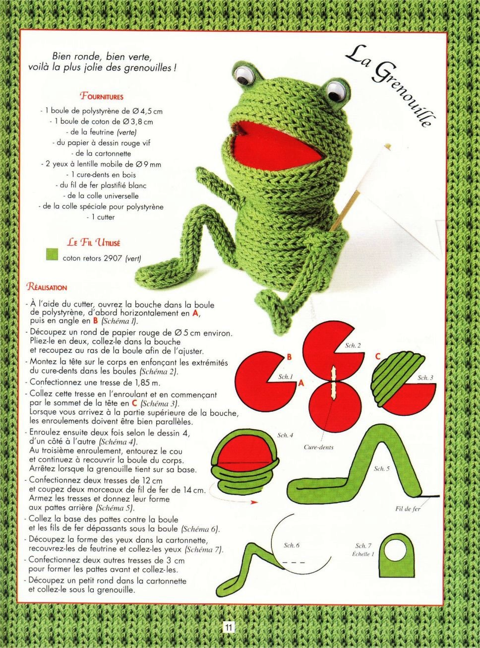 Sapo em crochet