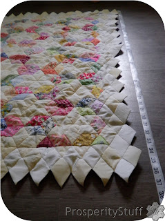 ProsperityStuff Quilts: Diamond stars quilt in progress