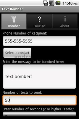 Text Bomber for Android
