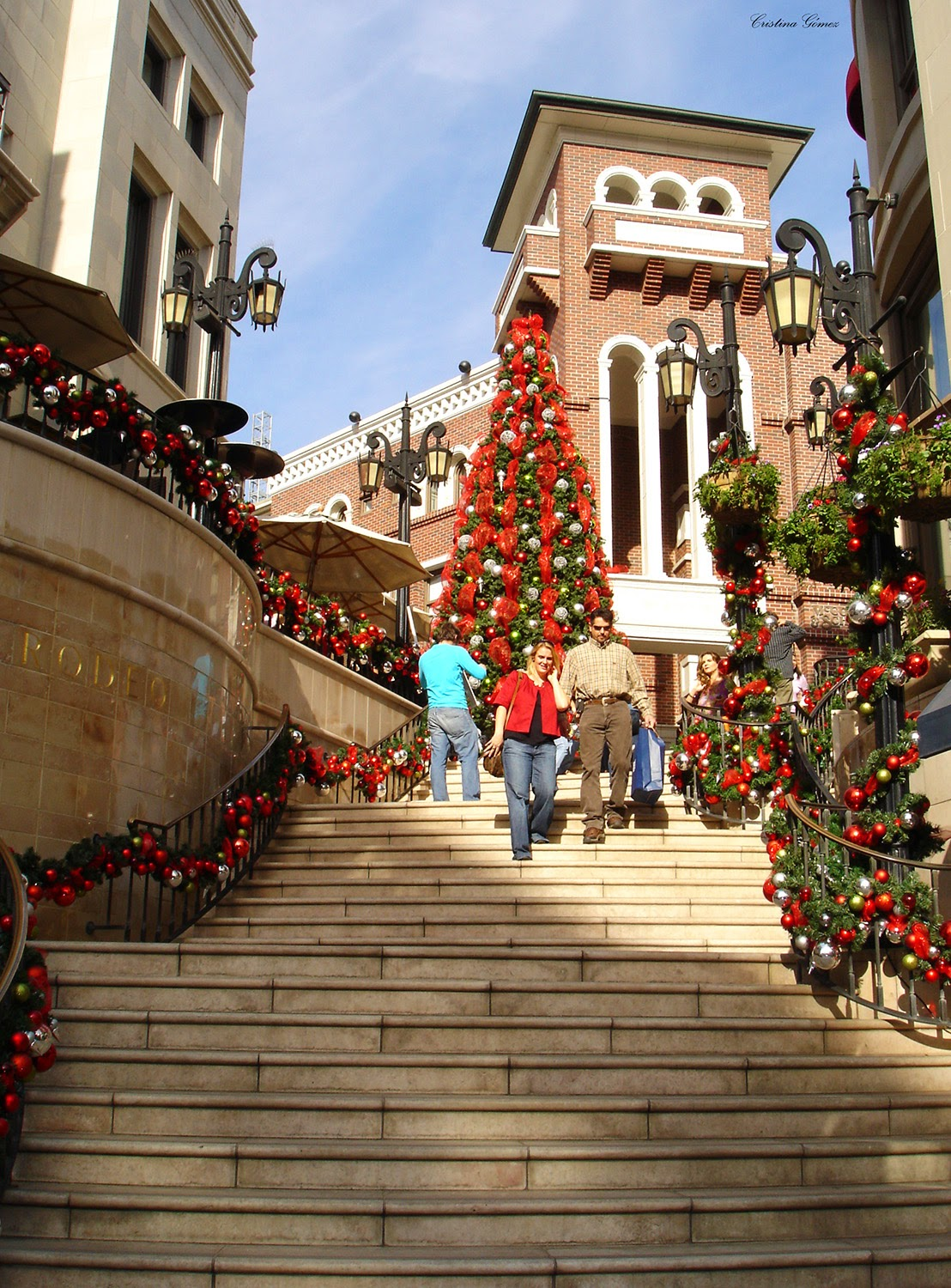 Christmas decorations in L.A., California